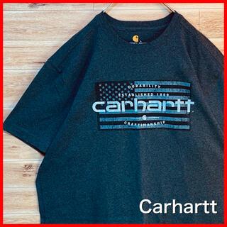 carhartt - 【USA製】カーハート Carhartt tシャツ  グレー プリント 半袖