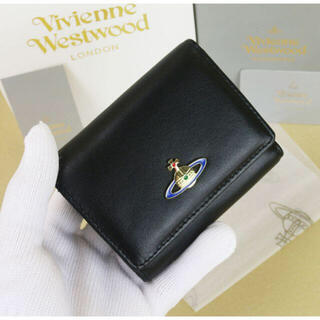 Vivienne Westwood - ヴィヴィアンウエストウッド 三つ折り財布 レザー 新品 ブラック