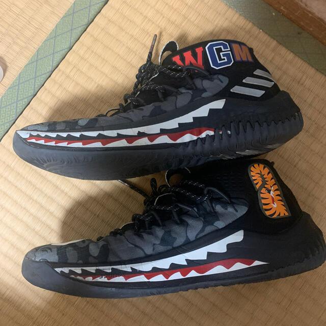 adidas(アディダス)のDAME4 A BATHING APE 27 adidas バスケットボール メンズの靴/シューズ(スニーカー)の商品写真