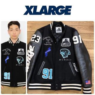 XLARGE - エクストララージ  X large フェイクレザー フルデコ スタジャン