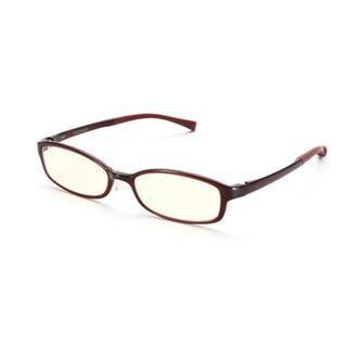 JINS - JINS ジンズ ブルーライトカットメガネ 38% ブラウン 軽量フレーム