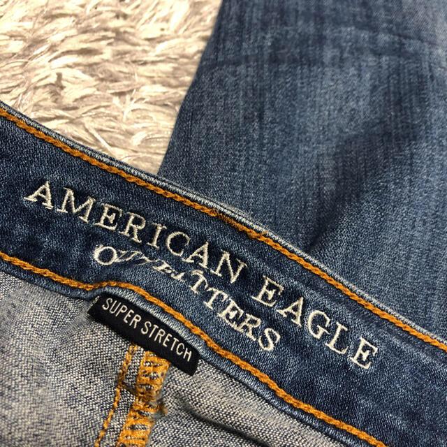 American Eagle(アメリカンイーグル)のアメリカンイーグル ダメージデニムパンツ レディースのパンツ(デニム/ジーンズ)の商品写真