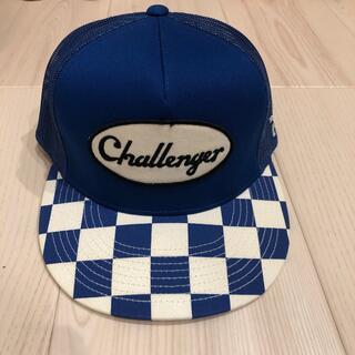 CHALLENGERブルーメッシュcap チャレンジャー