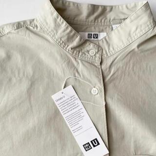 UNIQLO - オーバーサイズシャツ ユニクロU Mサイズ ライトグリーン