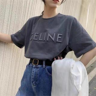 韓国Tシャツ  おしゃれ 英字  立体