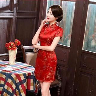 ボディライン(BODYLINE)のチャイナ服 赤 M(衣装)