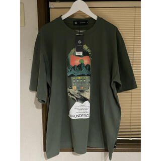 GU - GU undercover オーバサイズ TEE 5分袖 XL カーキ
