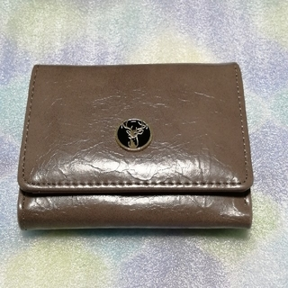 (M−389)●新品● 折りたたみ 3つ折り ミニ財布 グレー&ピンク