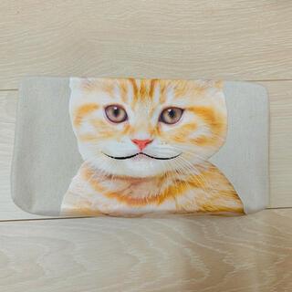 フェリシモ(FELISSIMO)の【美品】猫グッズ ティッシュカバー チャトラ猫(ティッシュボックス)