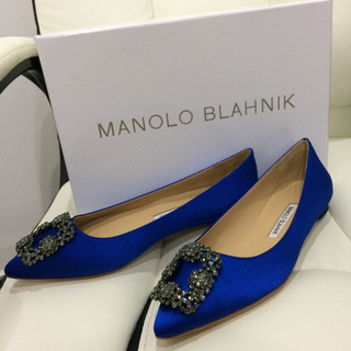 MANOLO BLAHNIK - 36cm  Manolo Blahnik マノロブラニク Hangisiフラット