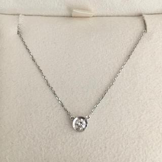 4℃ - 4℃ 覆輪 ダイヤモンド ネックレス K18WG 0.10ct 1.4g