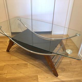 ファニチャードーム ガラスローテーブル ※引き取り限定(ローテーブル)