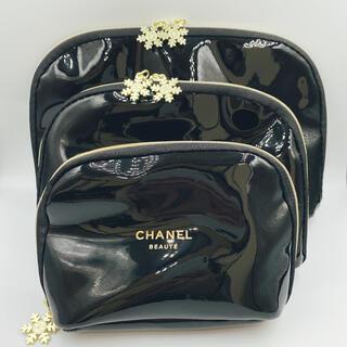 CHANEL - シャネル正規店 ノベルティポーチ3点