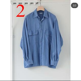 COMOLI - COMOLI 21SS ベタシャン CPOシャツ SAX 2