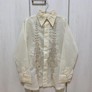 70's 刺繍 シャツ