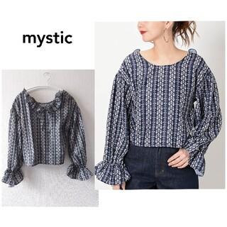 mystic - 【ミスティック】小花 フリル 2way ブラウス