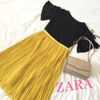 ZARA - ♡ZARA BASIC ザラ ロングシフォンプリーツスカート