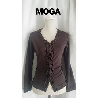 モガ(MOGA)の大変美品 MOGA BIGI  シンプルで渋いジャージブラウス(シャツ/ブラウス(長袖/七分))