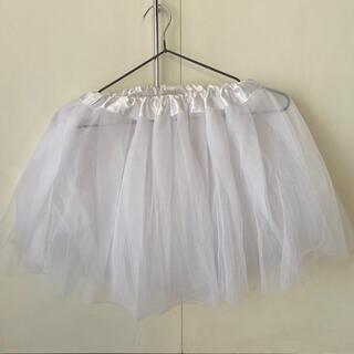ボディライン(BODYLINE)のパニエ ♡シンプル♡ ホワイト(ミニスカート)