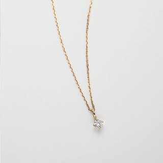 チェーンネックレス  一粒ダイヤ  鎖骨