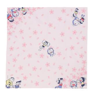 【 ドラえもん 】 桜柄 プリントハンカチ ピンク