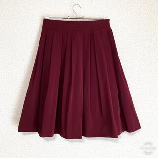エムプルミエ(M-premier)の美品 M-PREMIER BLACK スカート ワインレッド 36(ひざ丈スカート)