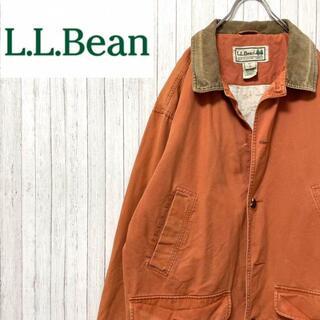 エルエルビーン(L.L.Bean)のエルエルビーン ハンティングジャケット オレンジ 襟コーデュロイ アニマル L(ブルゾン)