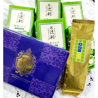 辻利抹茶ミルク 宇治抹茶10個・ うおがし銘茶煎茶・ 東京チョコワッフルサンド❤