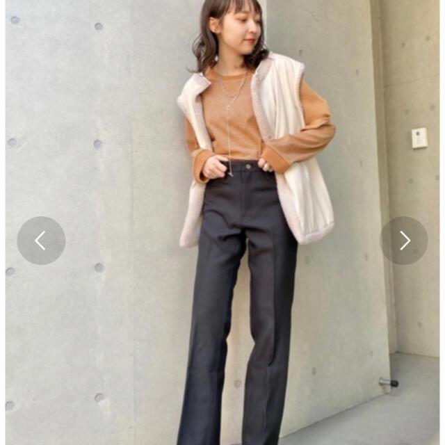 Kastane(カスタネ)のカスタネ kastane リンガーボーダーBIGロンT レディースのトップス(Tシャツ(長袖/七分))の商品写真