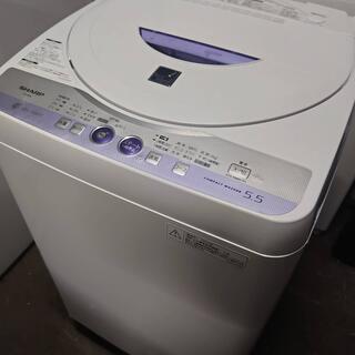 Z45819 シャープ洗濯機ES-55E6-KB/5.5kg