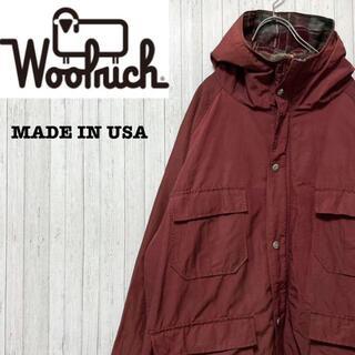 WOOLRICH - ウールリッチ USA製 白タグ ナイロンジャケット マウンテンパーカー L