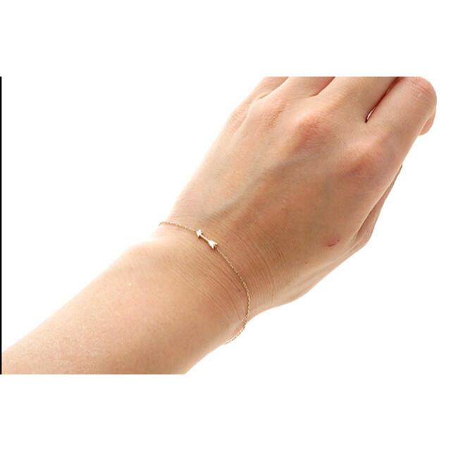 STAR JEWELRY(スタージュエリー)のスタージュエリー K10YG アロー矢印 ダイヤモンドチェーンブレスレット レディースのアクセサリー(ブレスレット/バングル)の商品写真