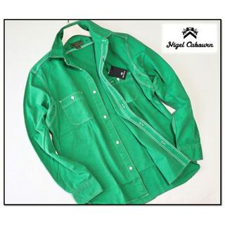 エンジニアードガーメンツ(Engineered Garments)の新品タグ付き【ナイジェルケーボン】50'S 長袖シャツ 緑 46(M)(シャツ)