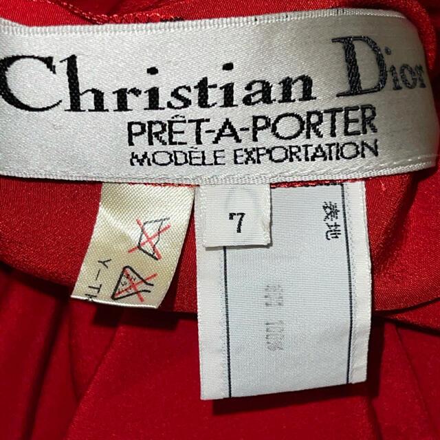 Christian Dior(クリスチャンディオール)のクリスチャンディオール ワンピース ドレス 絹100% レディースのワンピース(ロングワンピース/マキシワンピース)の商品写真