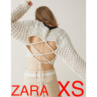 ZARA - ZARA サイズS LIMITED EDITIONバックデザインクロップドニット