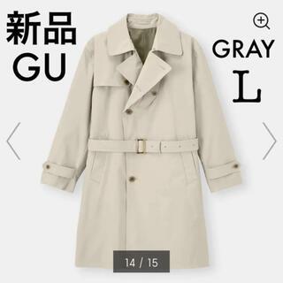GU - 新品 GU トレンチコート 超大型店限定 グレー L 完売品 コート ジーユー