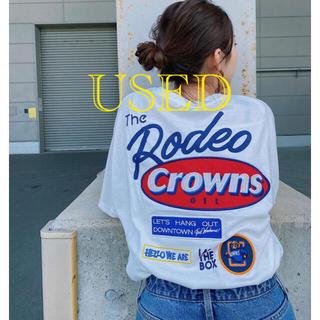 RODEO CROWNS WIDE BOWL - 【USED】ロデオ★Mix big VネックTシャツ(O/WHT)