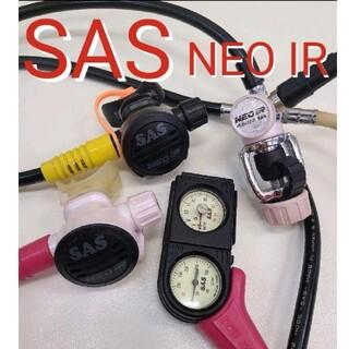 エスエーエス(SAS)のSAS NEO IR レギュレーターセット スキューバダイビング レギュレター(マリン/スイミング)