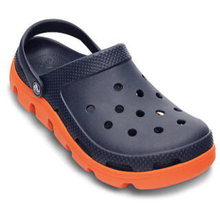 crocs - 【新品】クロックス デュエット スポーツ クロッグ ネイビー オレンジ 26cm