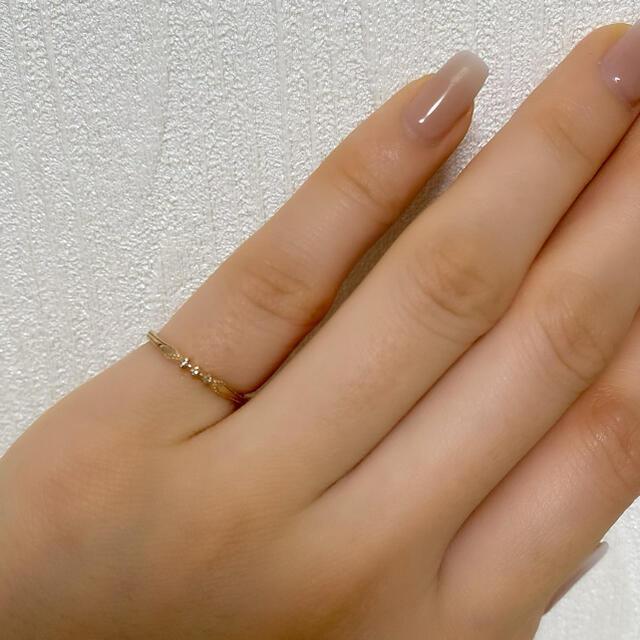 ete(エテ)のete K10 ピンクゴールド ピンキーリング レディースのアクセサリー(リング(指輪))の商品写真