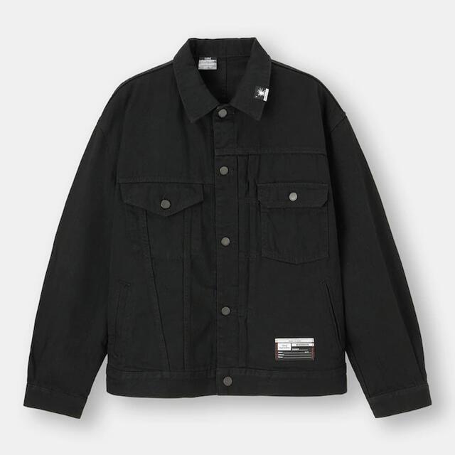 MIHARAYASUHIRO(ミハラヤスヒロ)の新品未使用 GU ミハラヤスヒロ デニムジャケットMY ブラック L メンズのジャケット/アウター(Gジャン/デニムジャケット)の商品写真