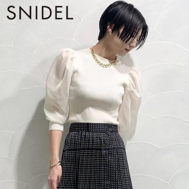 snidel(スナイデル)のパワショルシアースリーブトップス レディースのトップス(カットソー(長袖/七分))の商品写真