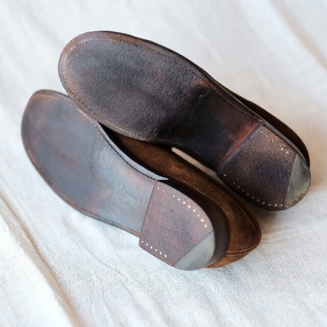J.M. WESTON(ジェーエムウエストン)のJ.M WESTON ジェイエムウエストン スエードローファー3 1/2D レディースの靴/シューズ(ローファー/革靴)の商品写真
