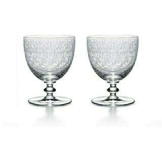 バカラ(Baccarat)のバカラ ローハン ウォーターゴブレット ワイングラス 大 ペア アンティーク(食器)