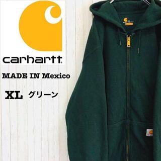 carhartt - カーハート パーカー スウェット グリーン メキシコ製 ビッグサイズ XL