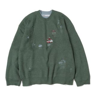 Jieda - dairiku 20aw layered damage knit