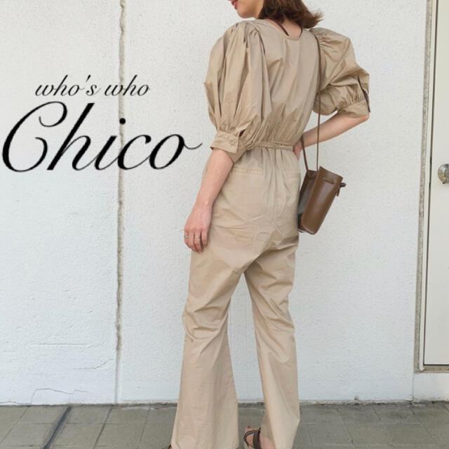 who's who Chico(フーズフーチコ)の新品完売¥7590【Chico】パワショルコンビネゾン オールインワン  レディースのパンツ(オールインワン)の商品写真