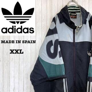 adidas - アディダス スペイン製 万国旗タグ 80年代 ビッグロゴ ビッグサイズ XXL