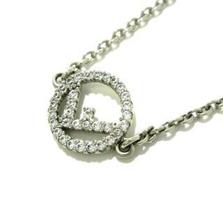 フェンディ(FENDI)のフェンディ美品  - 金属素材×ジルコニア(ネックレス)