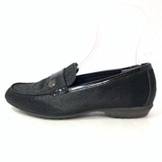 フィットフィット(fitfit)のフィットフィット 23.5 レディース - 黒(ローファー/革靴)